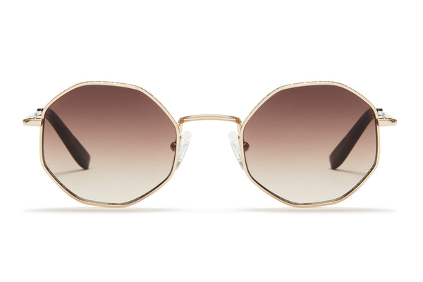 Sunday Somewhere Ems Gold Unisex Geometric Sunglasses