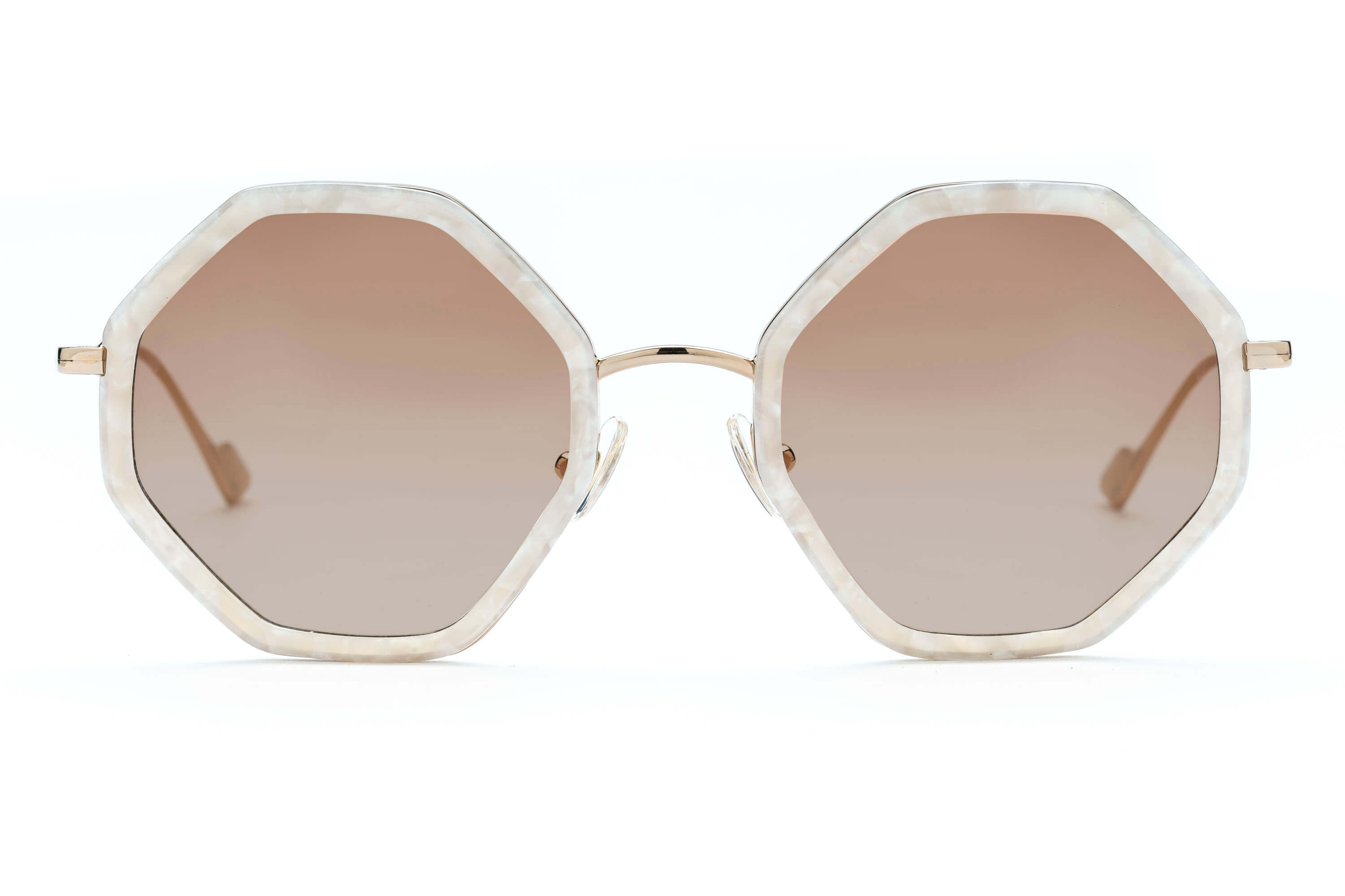 c3a9e8c983 ... Hitomi geometric sunglasses in mother of pearl ...