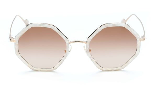 Hitomi geometric sunglasses in mother of pearl