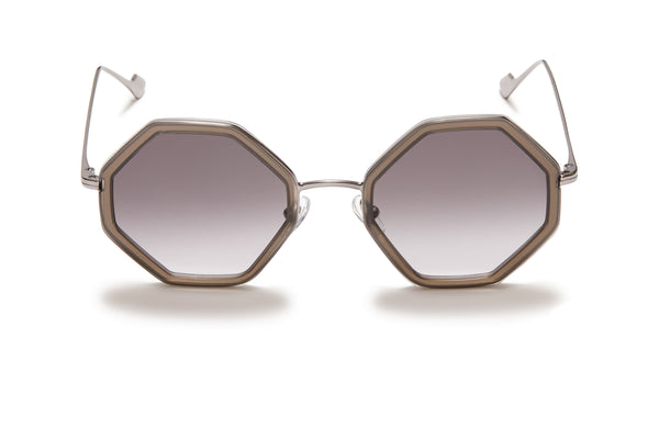 Sunday Somewhere Hitomi Grey Women's Geometric Sunglasses