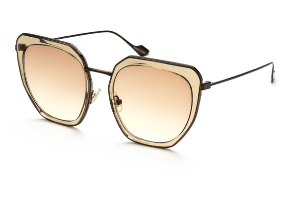 Silvia oversized sunglasses in champagne