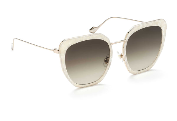 Silvia oversized sunglasses in mother of pearl