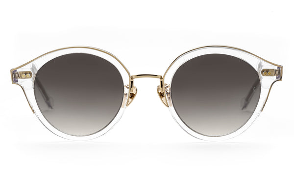 Barbara round sunglasses in crystal