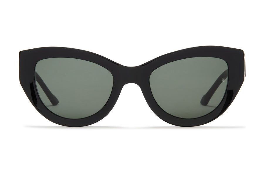 Harper Black Women's Oversized Acetate Sunglasses Sunday Somewhere