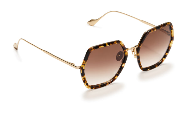 Sunday Somewhere Elizabeth Tokyo Tort Woman's Square Sunglasses