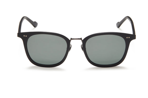 Sunday Somewhere Yaya Black Unisex Acetate Sunglasses
