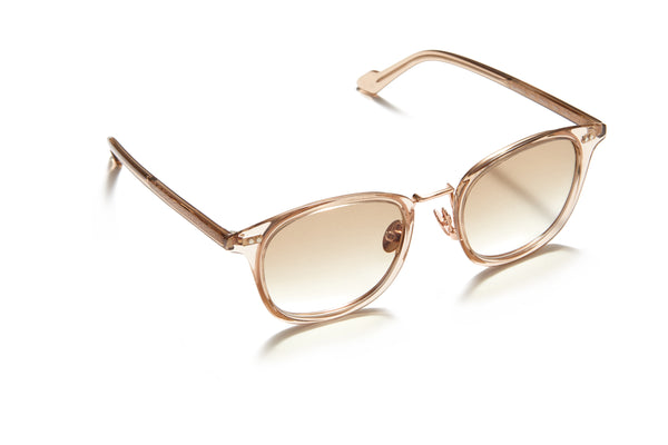 Sunday Somewhere Yaya Light Brown Unisex Acetate Sunglasses