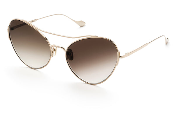 Adeline oversized sunglasses in gold