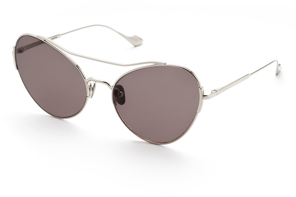 Adeline oversized sunglasses in silver