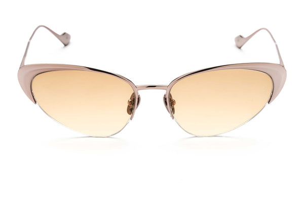 Yuki cat-eyed sunglasses in pink gold