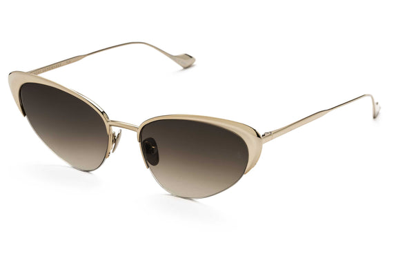 Yuki cat-eyed sunglasses in rose gold