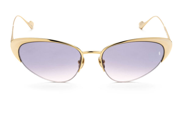 Yuki cat-eyed sunglasses in transparent purple