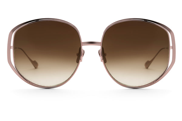 Marjorie oversized sunglasses in rose gold