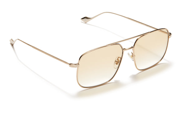 Sunday Somewhere Andy Gold Unisex Aviator Metal Sunglasses