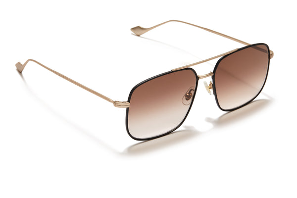 Sunday Somewhere Andy Matte Black Unisex Aviator Metal Sunglasses