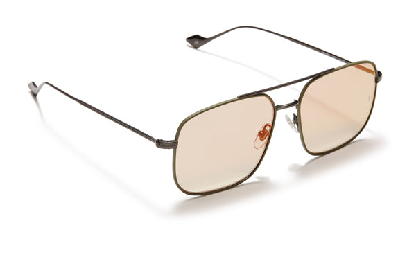 Sunday Somewhere Andy Dark Olive Unisex Aviator Metal Sunglasses