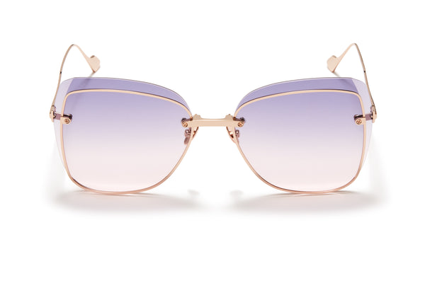 Sunday Somewhere Saskia Rose Gold Women's Oversized Sunglasses