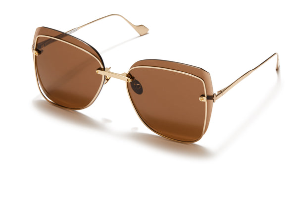Sunday Somewhere Saskia Gold Women's Oversized Sunglasses