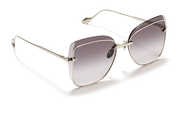 Sunday Somewhere Saskia Silver Women's Oversized Sunglasses