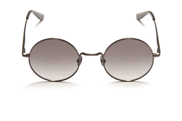 Sunday Somewhere Junita Grey Unisex Round Metal Sunglasses
