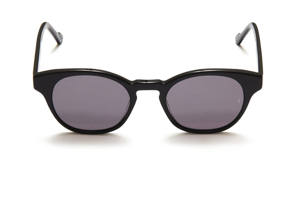 Sunday Somewhere Ario Black Unisex Round Acetate Sunglasses