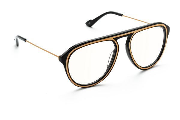 Wolfgang aviator optical in black