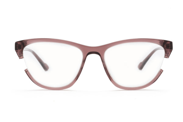 WooYou rimless optical in burgundy