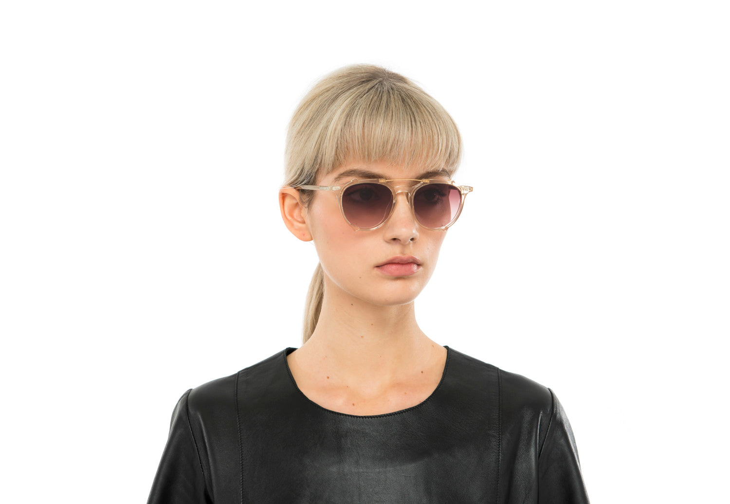 Odin round sunglasses in matte black