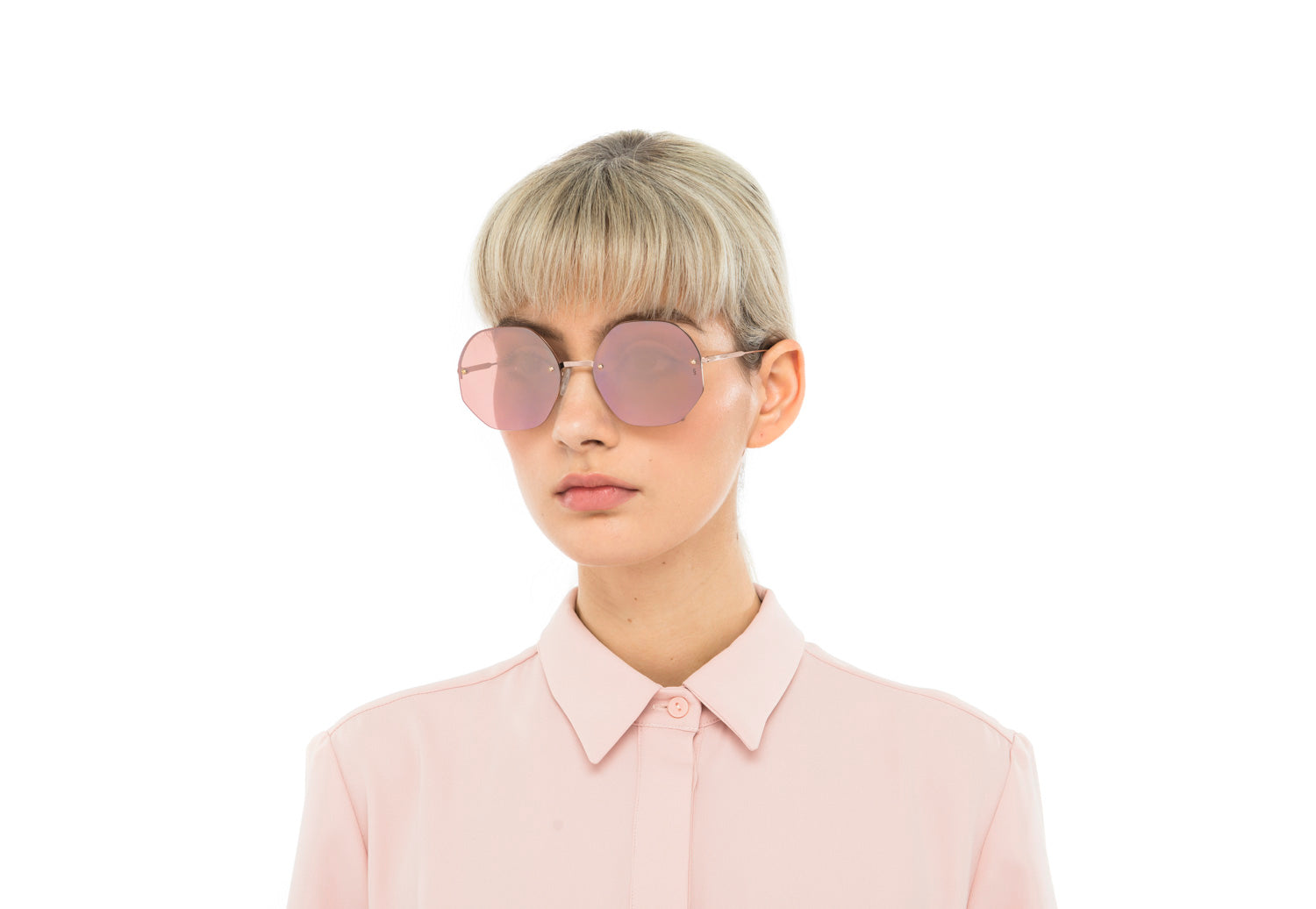 Mia oversized sunglasses in purple