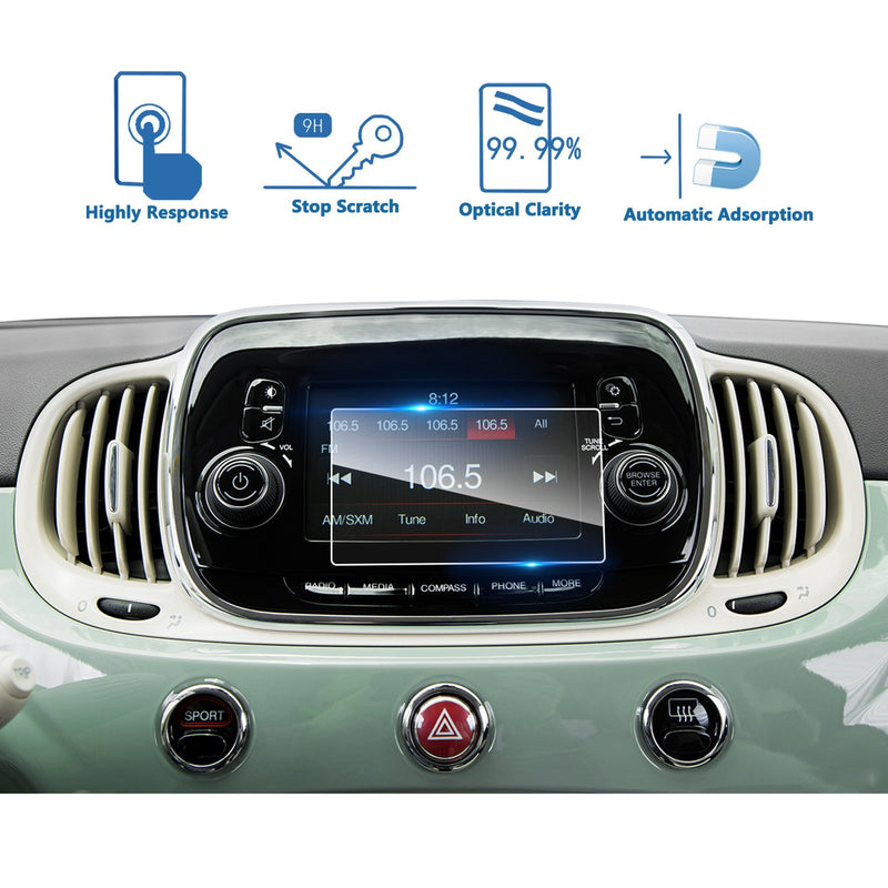 2016-2019 FIAT 500 UConnect 5-Inch LFOTPP Car navigation Screen Protector