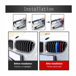 2016-2019 BMW X1 Snap-on Medium Mesh Three-color Decorative Strip