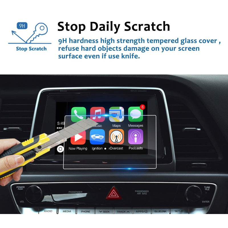2017-2019 Hyundai Sonata Blue Link 7-inch Display Screen Protector