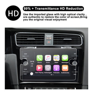 2018 VW Volkswagen GTI 8-Inch Touch Screen Car Display Navigation Screen Protector,  HD Clear Tempered Glass Protective Film