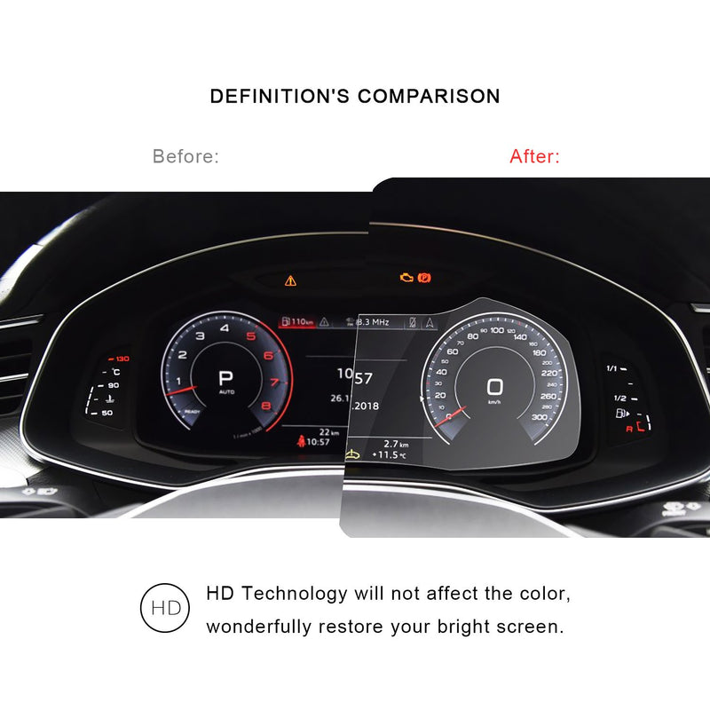 2019 Audi Q8 Dashboard Screen Protector