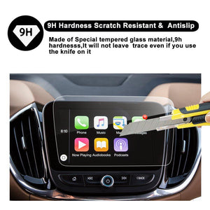 2017-2019 Chevrolet Malibu Trapezoid Car Navigation Protective Film,Clear Tempered Glass HD ( 8-Inch /7-Inch anti blue-light)