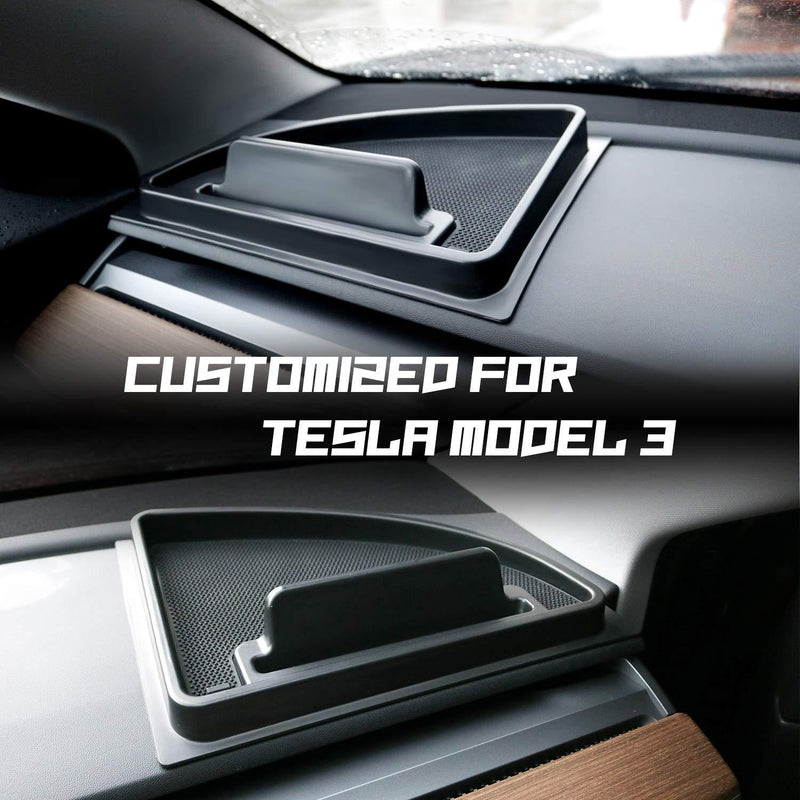 LFOTPP Tesla Model 3 2018+ Car Instrument Board Storage Box Organizer Stuff Holder Central Console Organizer