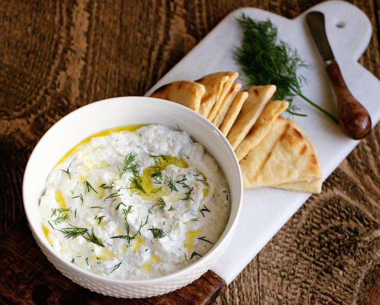 100% greek tzatziki with grilled pita
