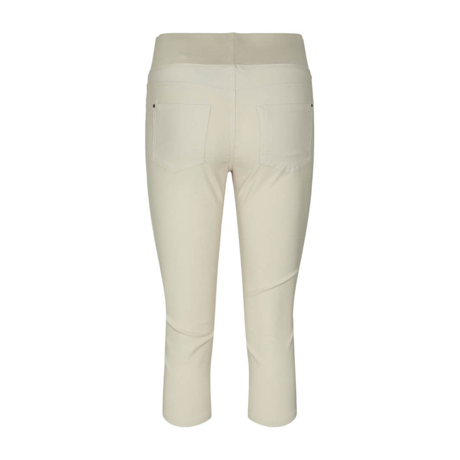 Freequent stretch capri bengalin, beige
