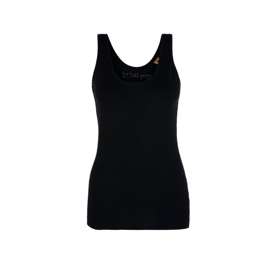 S.Oliver tanktop stretch, musta - Moment.fi