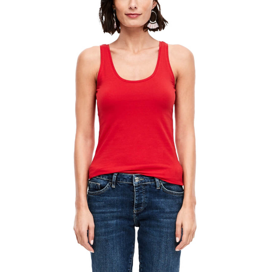 S.Oliver tanktop stretch, punainen
