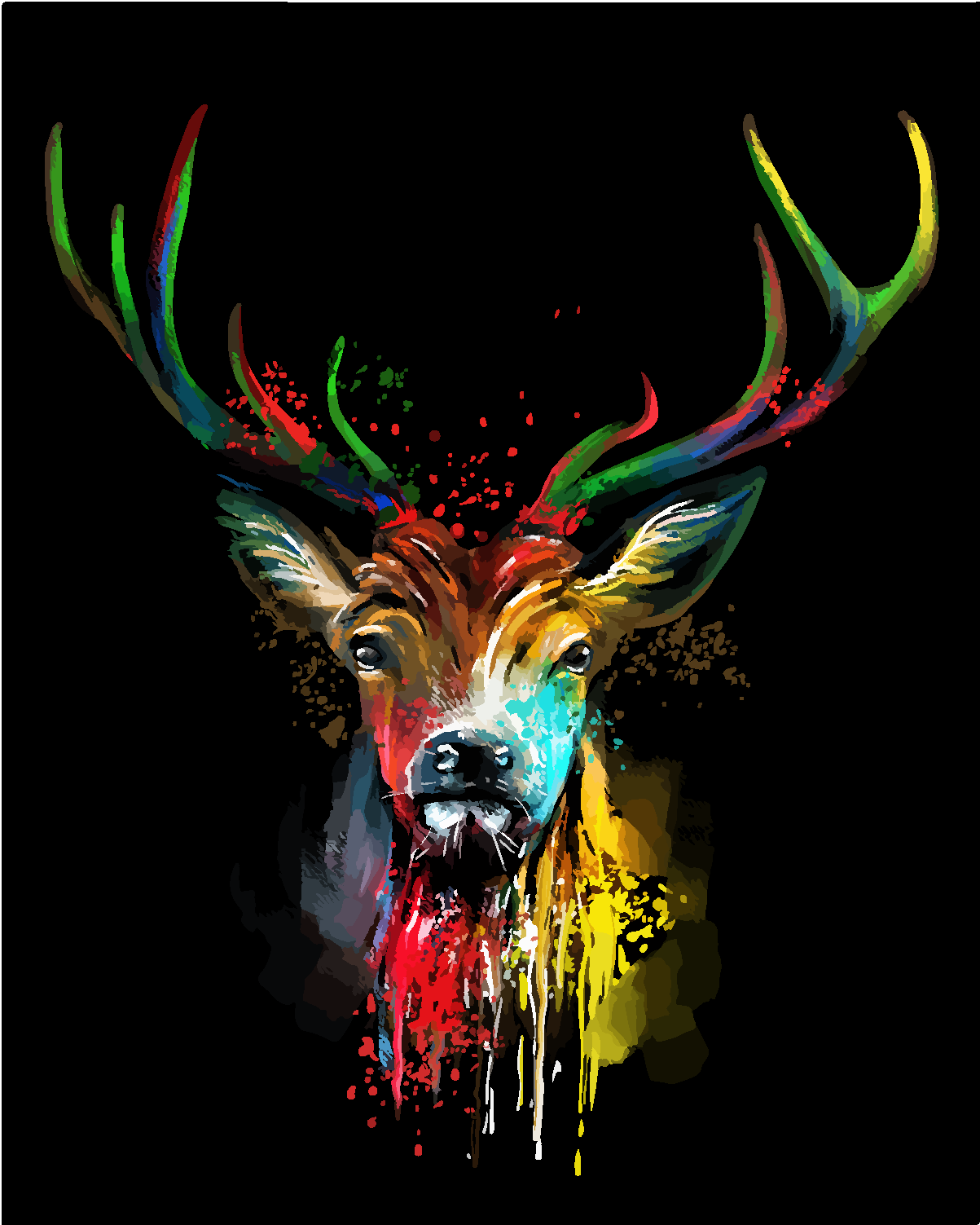 The Color Deer Painting By Numbers Drawlify Net