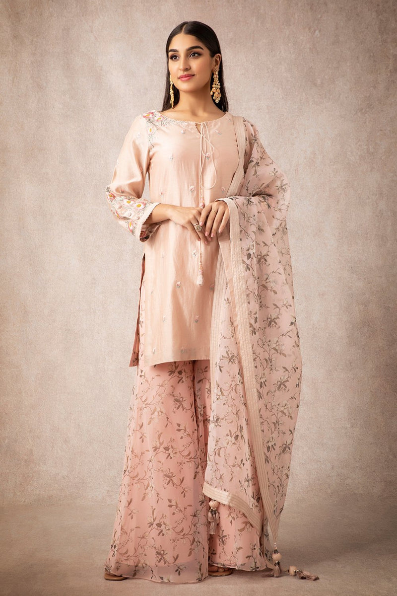 Salmon Short Kurta Set - ajieshoberoi