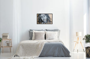 ALANIS MORISSETTE - Original Artwork FOR SALE Oil Painting By Leah Justyce (BaVA) Insitu