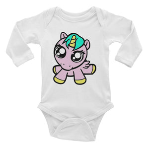 Baby Unicorn Infant Long Sleeve Bodysuit Limited Edition Clothing By URBAN JUSTYCE CLOTHING