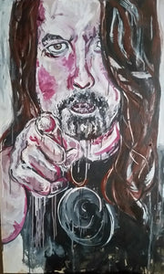 DAVE GROHL - Original Artwork FOR SALE Oil Painting By Leah Justyce (BaVA)