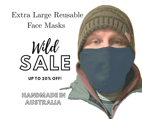 Buy Navy Extra Large Reusable Face Masks With Nose Wire In Australia