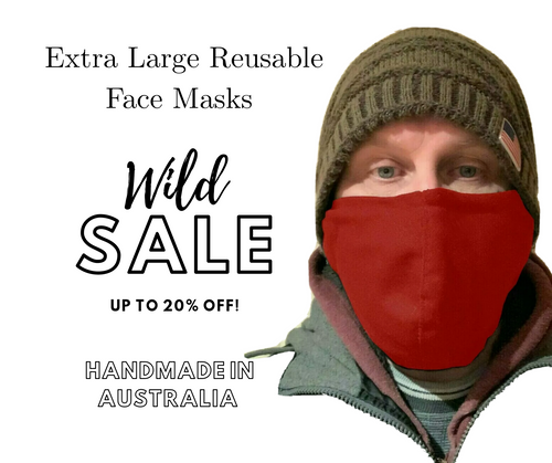 Buy Red Extra Large Reusable Face Masks With Nose Wire In Australia