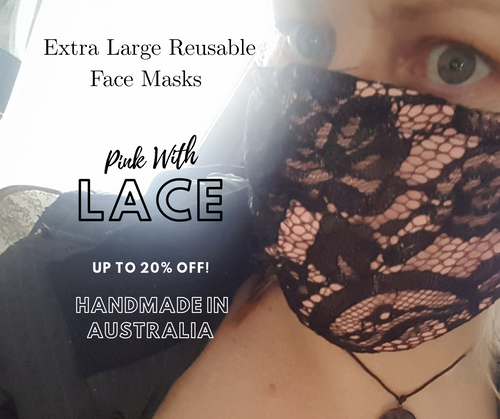 Buy Lace Extra Large Reusable Face Masks With Nose Wire In Australia