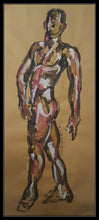 Load image into Gallery viewer, MALE NUDE STANDING POSE - Original Artwork FOR SALE Oil Painting By Leah Justyce (BaVA)