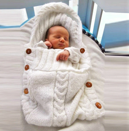Newborn Baby Blanket Knitted Sleeping Bag